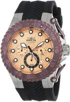 Invicta Men's 14092 Pro Diver Chronograph Tone Patterned Dial Black Silicone Watch