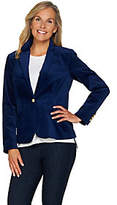 C. Wonder Velvet Blazer with Printed Lining