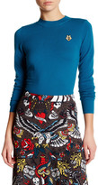 Love Moschino Ribbed Texture Wool Knit Sweater