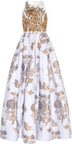 Andrew Gn Embroidered Sleeveless Gown
