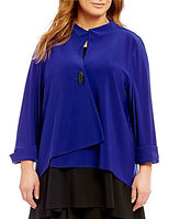 IC Collection Plus One-Button Asymmetrical Jacket