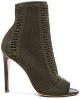 Gianvito Rossi Knit Vires Booties in Green.
