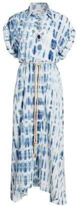 Nanushka Hanna Tie-Dye Shirtdress