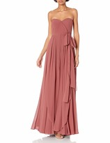 Jenny Yoo Women's Mira Convertible Strapless Pleat Chiffon Gown
