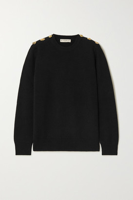 Givenchy Embellished Wool And Cashmere-blend Sweater - Black