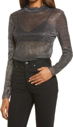 Chelsea28 Metallic Turtleneck Sweater