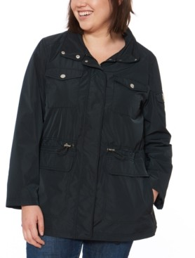 Vince Camuto Plus Size Water-Resistant Anorak Jacket
