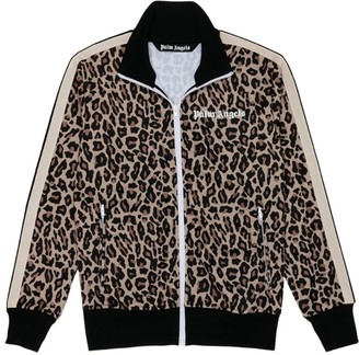 Palm Angels Leopard Print Track Jacket