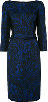Oscar de la Renta boat neck pencil dress - women - Nylon/Polyester - 6