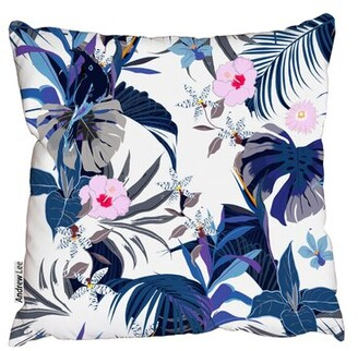 """Lee Andrew Cotton Floral Throw Pillow Andrew Size: 18"""" H x 18"""" W"""
