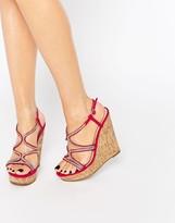 Asos TERRIFIC Embellished Wedge Sandals
