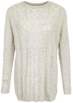 Fat Face Charlotte Cable Jumper, Light Grey
