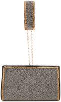 Alberta Ferretti studded clutch bag - women - Silk/Rayon/PVC - One Size