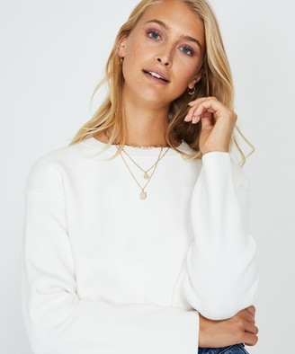 Alice In The Eve Lara Compact Crew Knit Chalk White
