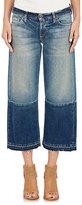 Simon Miller Women's Crop Wide-Leg Jeans-NAVY