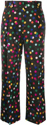 Racil Spot Print Cropped Trousers