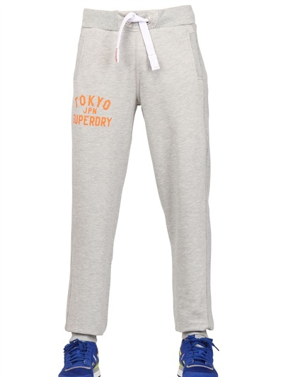 Superdry Vintage Printed Cotton Fleece Trousers