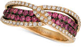 LeVian Le Vian® Raspberry Rhodolite® (3/4 ct. t.w.) & Diamond (1/3 ct. t.w.) Ring in 14k Rose Gold
