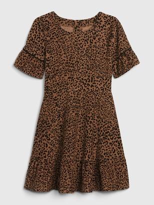 Gap Kids Leopard Print Cord Dress