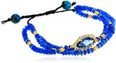 Tai Multi-Strand Cobalt Beaded Bracelet