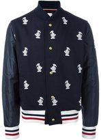 Moncler Gamme Bleu duck embroidered bomber jacket - men - Cotton/Polyamide/Polyester/Cupro - M