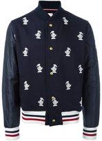 Moncler Gamme Bleu duck embroidered bomber jacket