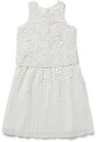 Billieblush Billie Blush Girls Crepe Pleated Sequin Dress