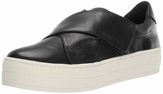 J/Slides Women's Harper Sneaker Black Leather Size 9