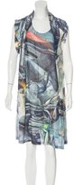 Hussein Chalayan Abstract Print Silk Dress