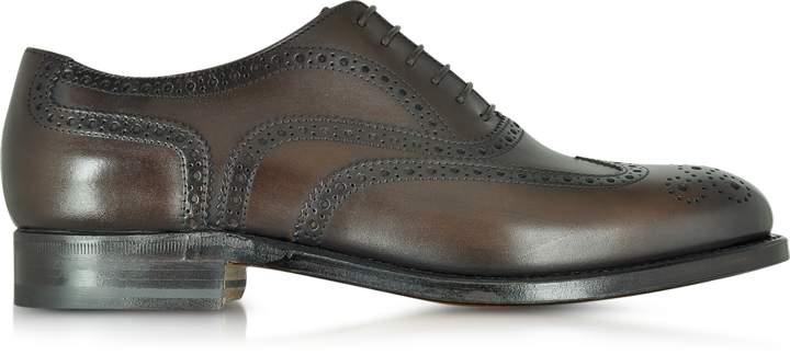 Moreschi Windsor Dark Brown Leather Wingtip Oxford Shoe