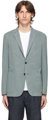 Ermenegildo Zegna Blue Two-Button Blazer