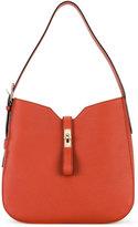 Bally flip lock shoulder bag