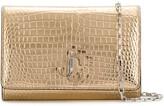 Jimmy Choo Varenne crocodile-effect clutch bag