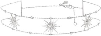 Djula White Gold And Diamond Sun Choker