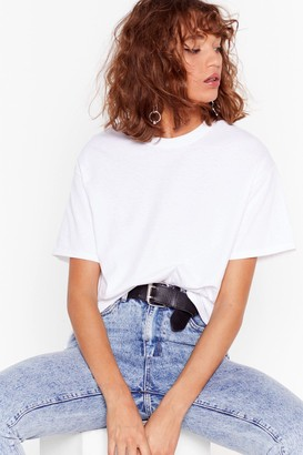 Nasty Gal Womens Face the Facts Relaxed Tee - Black - S, Black