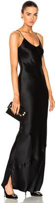 Nili Lotan Cami Gown in Black | FWRD