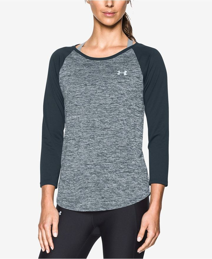 Under Armour UA Tech Heathered Colorblocked Top