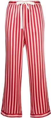 Morgan Lane Chantal striped-print trousers