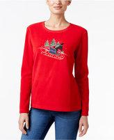 Karen Scott Petite Sleigh Graphic Sweatshirt, Only at Macy's