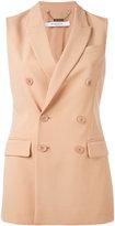 Givenchy long tailored waistcoat - women - Viscose/Polyamide/Spandex/Elastane/Silk - 38