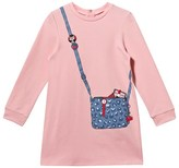 Little Marc Jacobs Pink Bag Print Trompe L ́oeil Jersey Dress