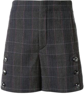 Chloé Plaid Shorts