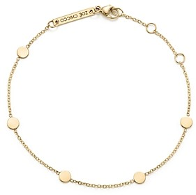 Zoë Chicco 14K Yellow Gold Itty Bitty Disc Bracelet