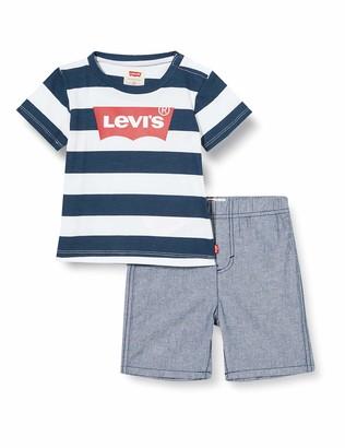 Levi's Kids Lvb Inside Out Tee W Short Set Shorts Set Baby Boys Dress Blues 12 Months