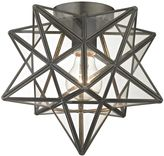 Sterling Industries 1-Light Moravian Flush Mount in Bronze