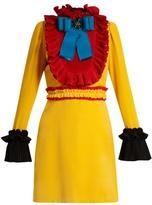 Gucci Ruffle-trimmed velvet mini dress