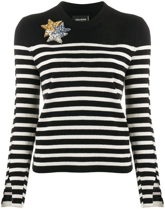 Zadig & Voltaire Delly striped jumper