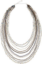 Nakamol Multi-Strand Beaded Necklace, Gray Mix