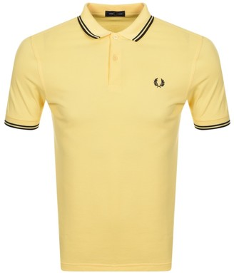 Fred Perry Twin Tipped Polo T Shirt Yellow
