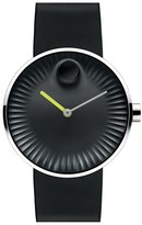 Movado 'Edge' Rubber Strap Watch, 40Mm